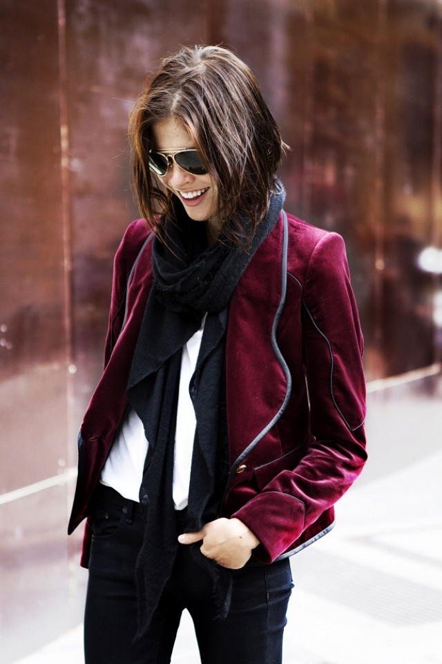 street style outfit velours veste