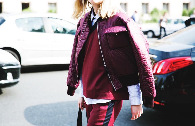 street style bordeaux burgundy