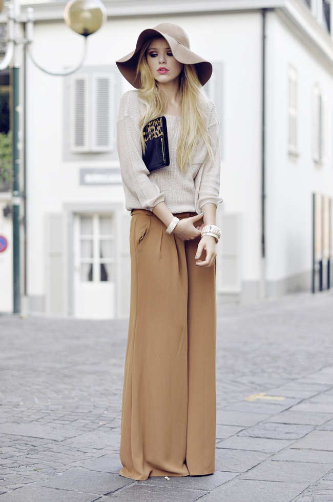 street style nude beige total look