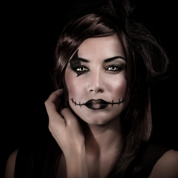 Vaudou make-up Halloween dernière minute