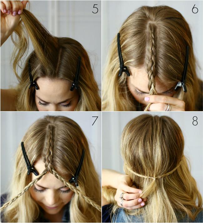 tutoriel demi-tresses coiffure naturelle