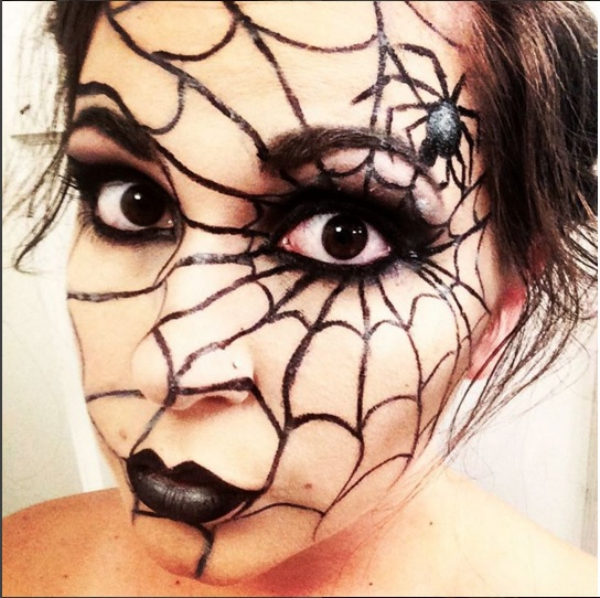 DIY makeup Halloween araignée