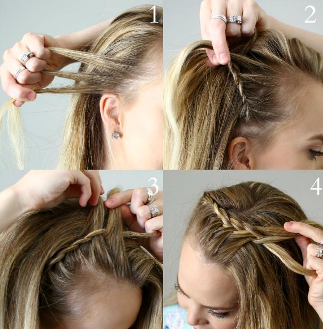 DIY bandeaux tressé coiffe