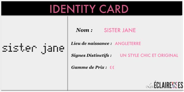 Sister Jane identy card