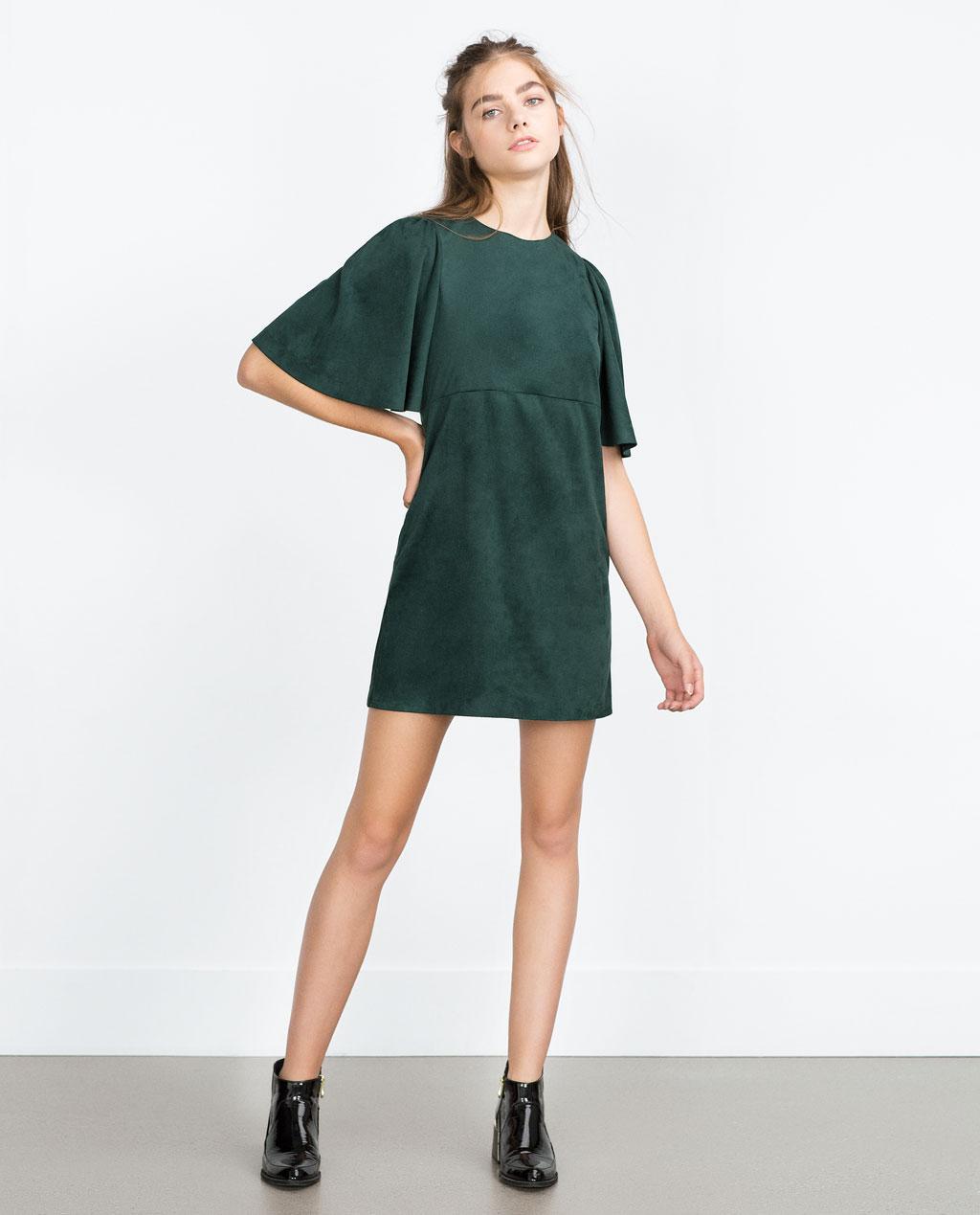 Zara - Robe en suédine