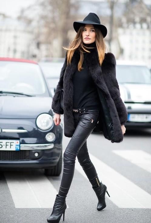 street style pantalon en cuir