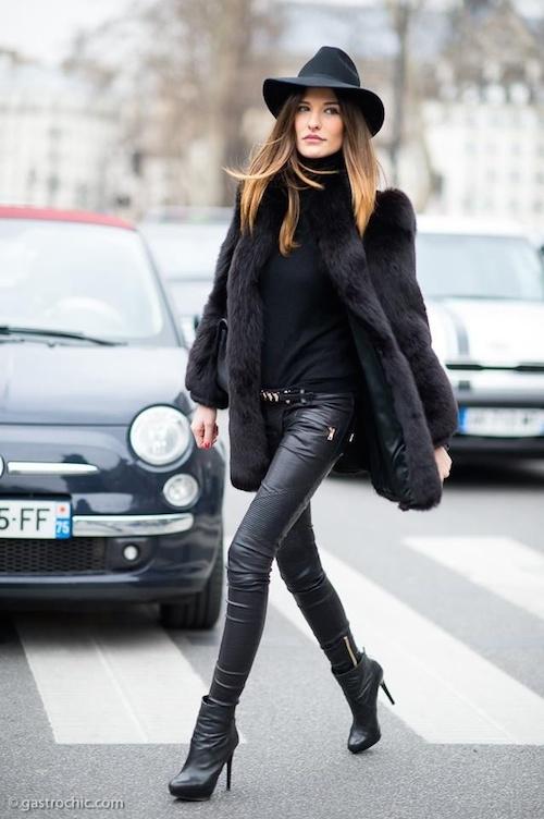Famous Du cuir noir pour un look Rock'N Roll - Les Éclaireuses SA72