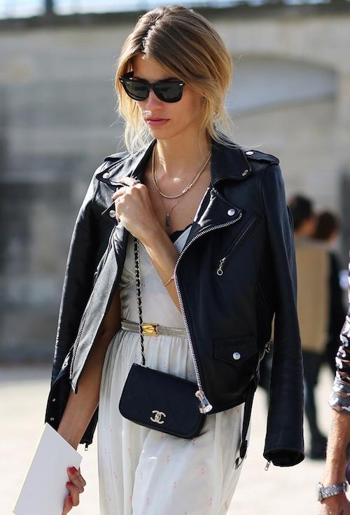 street style leather jacket