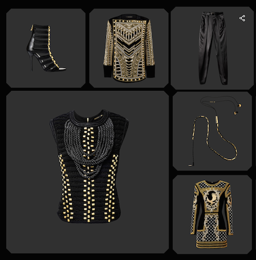 sortie de la collection Balmain x H&M