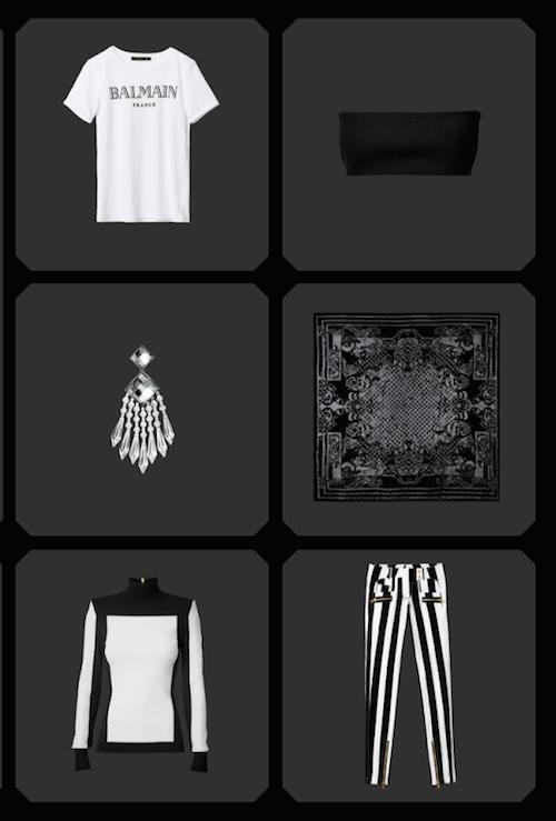 voir la collection Balmain x H&M