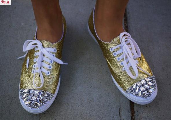 sneakers van custom DIY