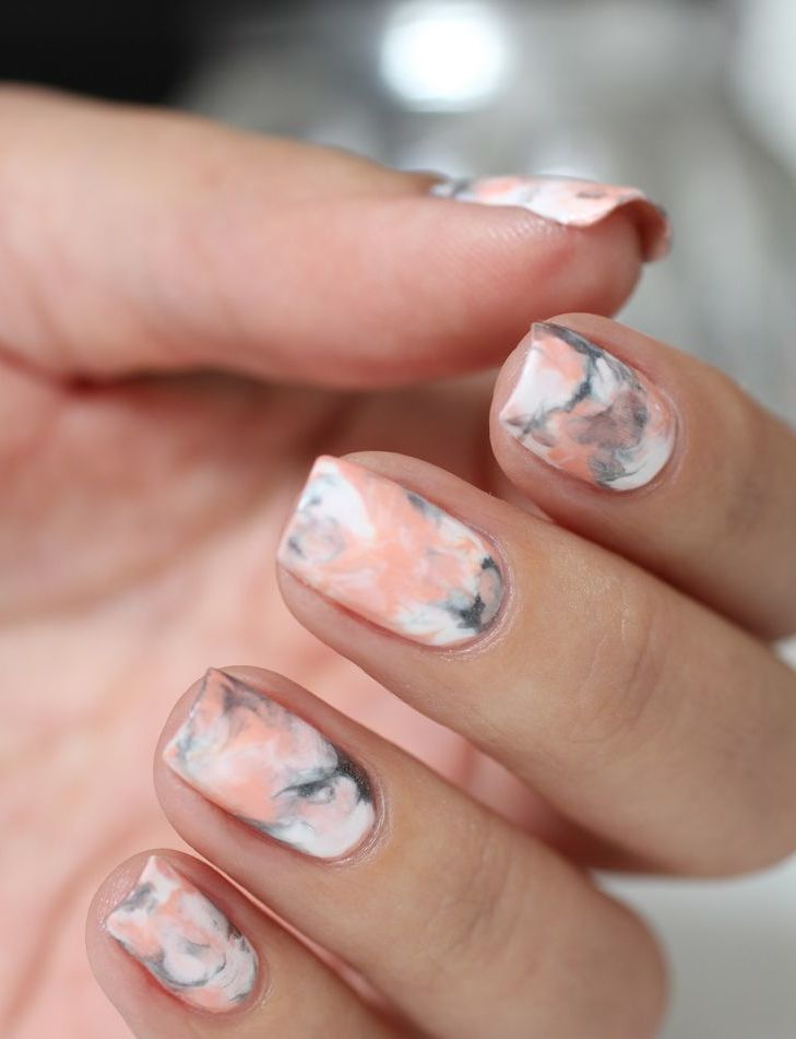 nail art marbre