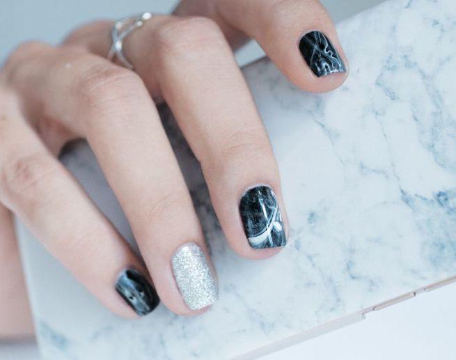 marbre nail art