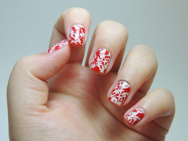 tuto nail art sang