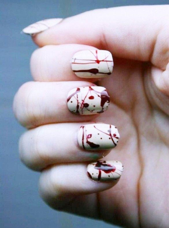 tuto nail art halloween
