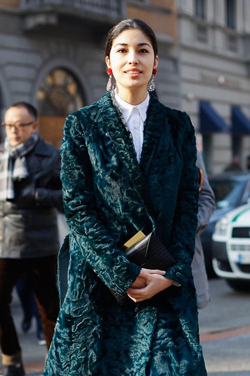 street style velour vert