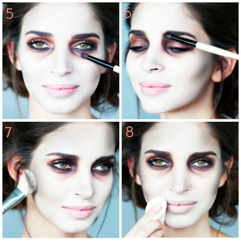 maquillage zombie tim burton