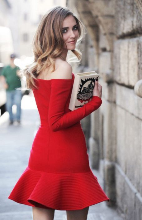 Robes rouges street style