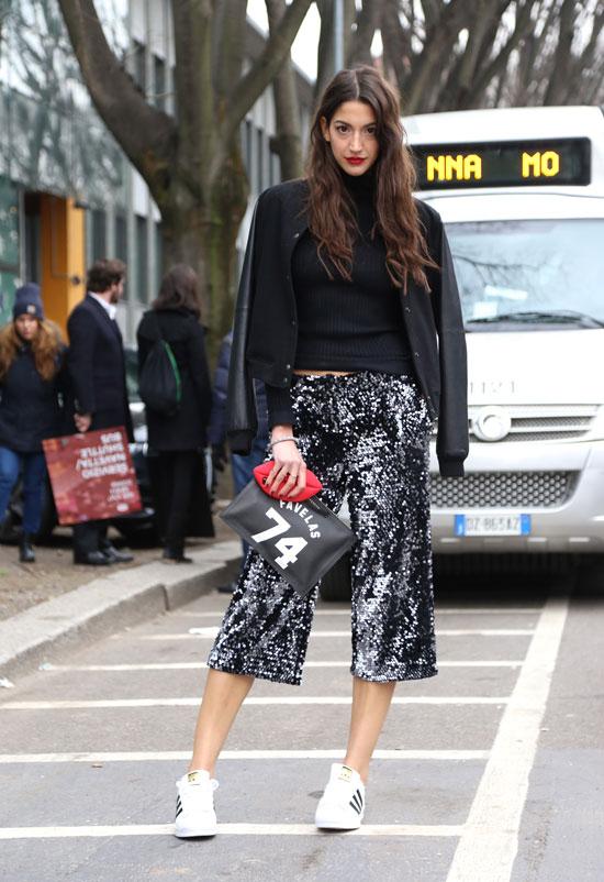 jupes-culotte street look imprimée