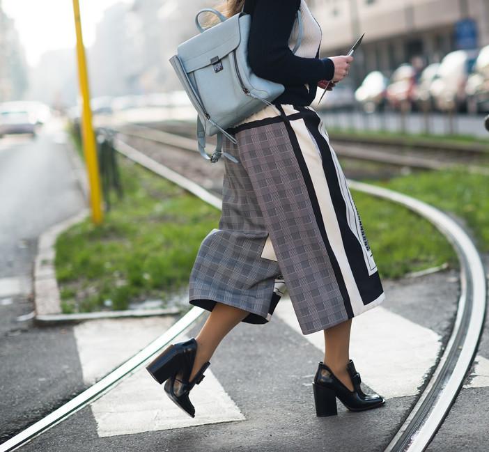 jupes culottes imprimée street look outfit
