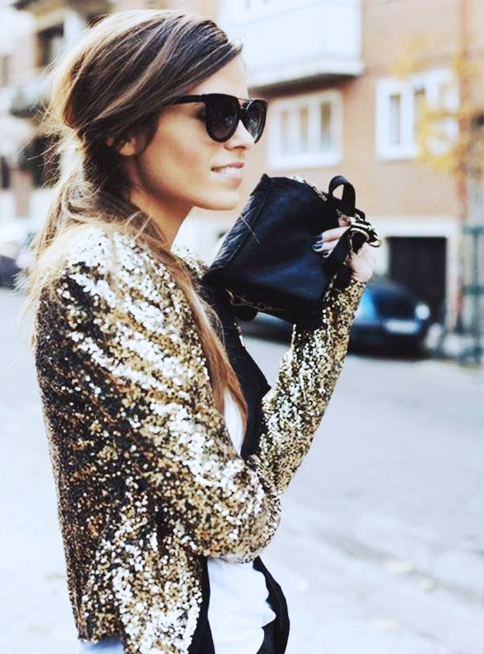 street look glitter veste soir