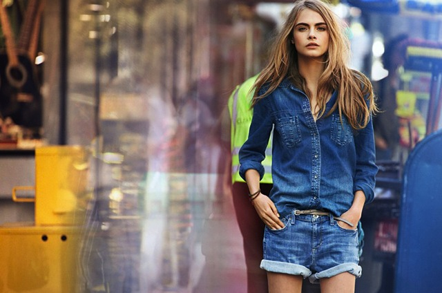 denim look outfit cara delevingne