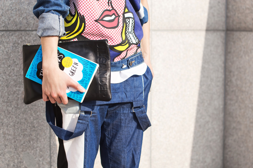 Denim look outfit