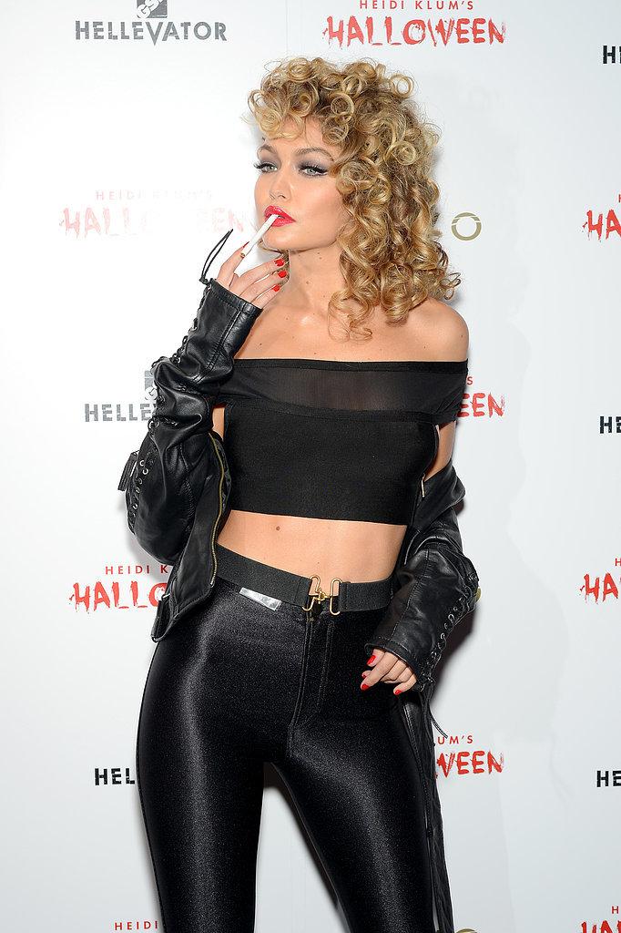 Gigi hadid en Grease halloween déguisement 201