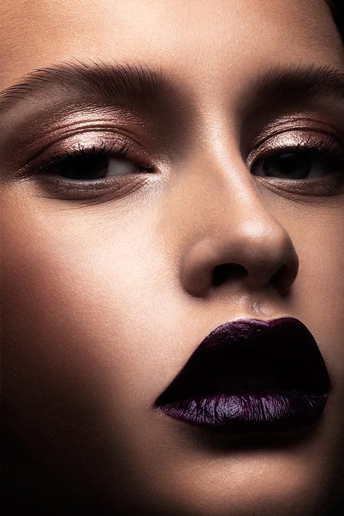metal ombre à paupière makeup