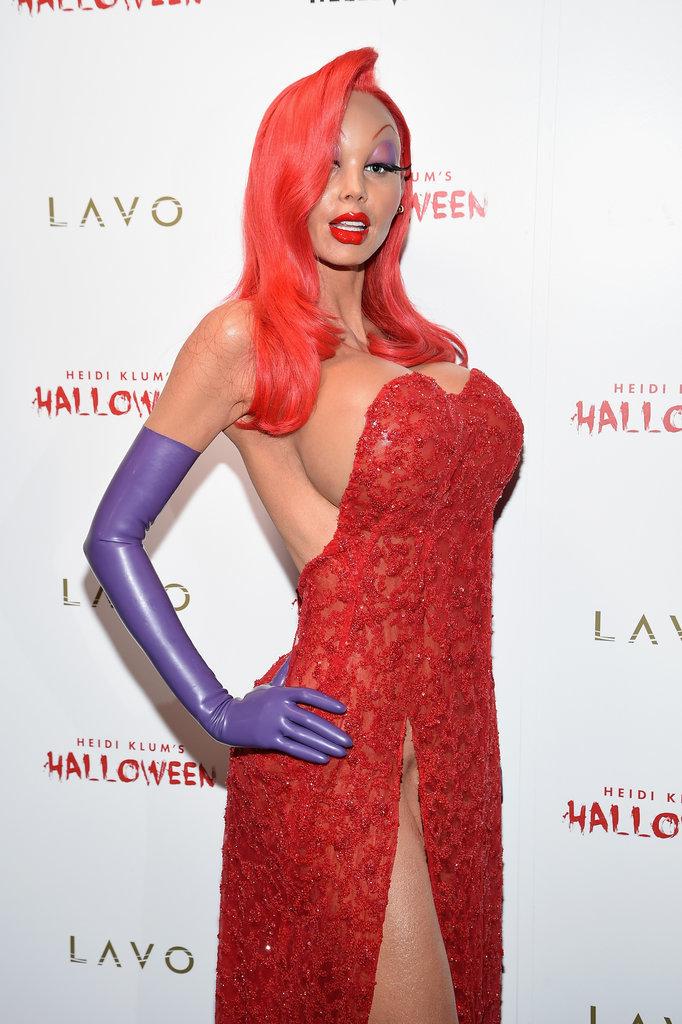 Heidi Klum en Jessica Rabbit Halloween 2015