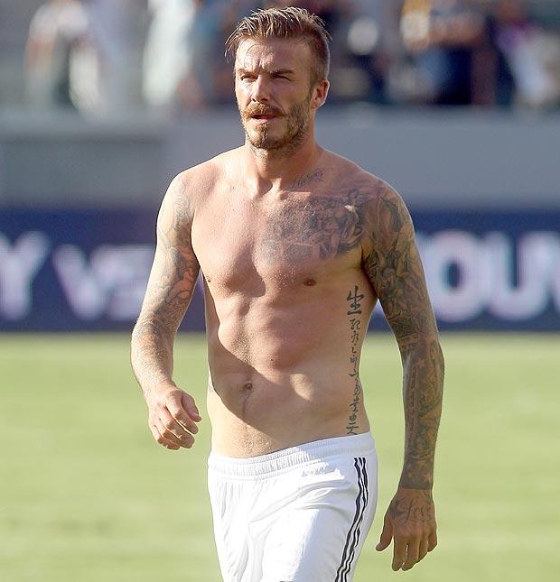 football david beckham homme sexy 2015
