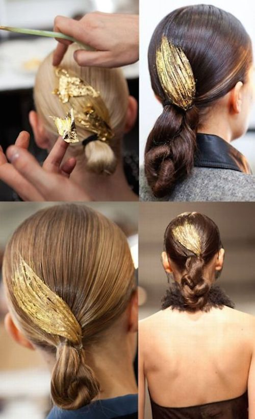 Gold-Leaf Hair nouvelle coiffure