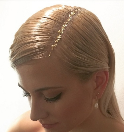 Gold-Leaf Hair coiffure