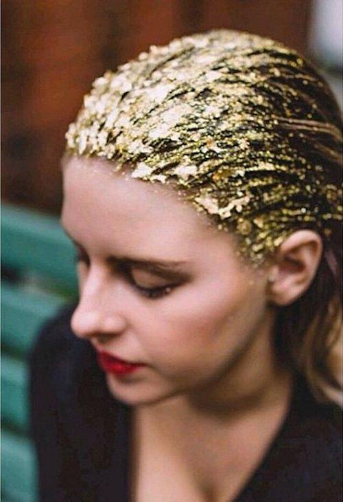 Gold-Leaf Hair des paillettes dans les cheveux