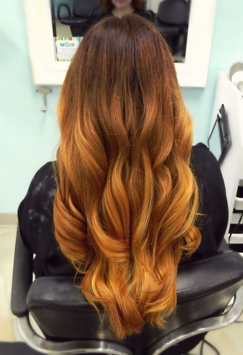 pumpkin color hair