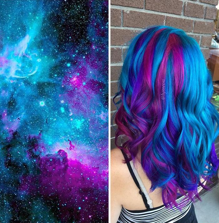 Galaxy hair color