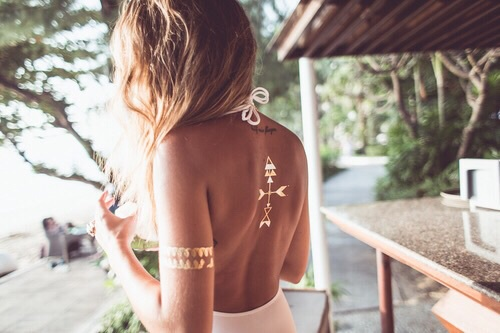 tendance tatouages éphémères