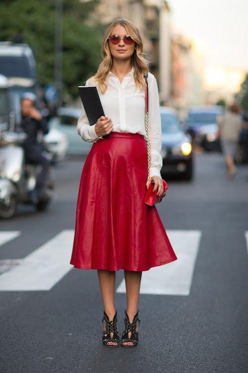 street style jupe midi