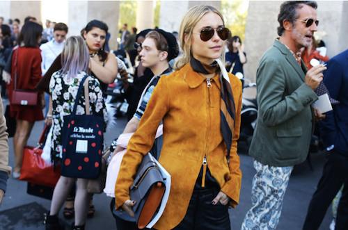 street style veste en daim look de pernille