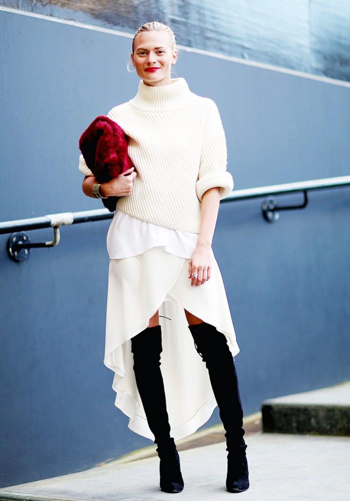 Comment porter du blanc en hiver 8