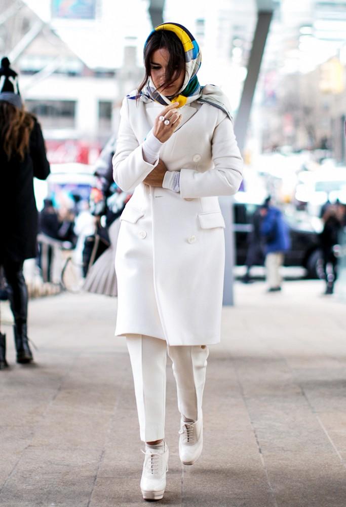 Comment porter du blanc en hiver 1