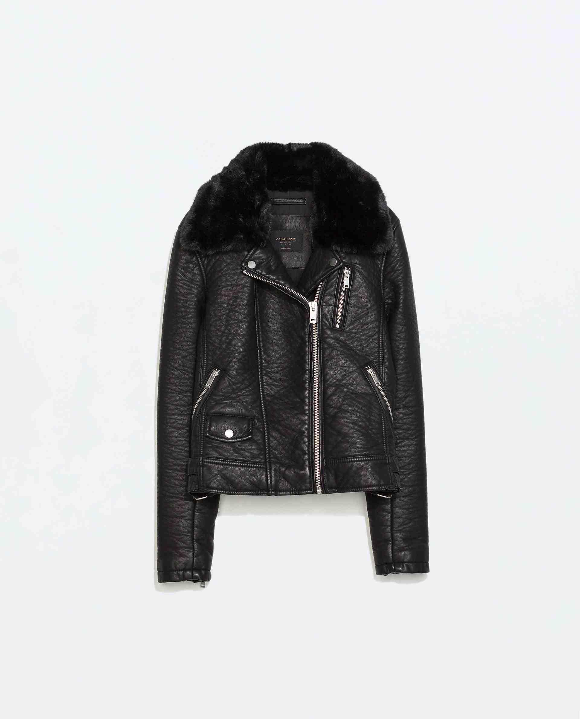Zara - Veste en cuir(80 €)