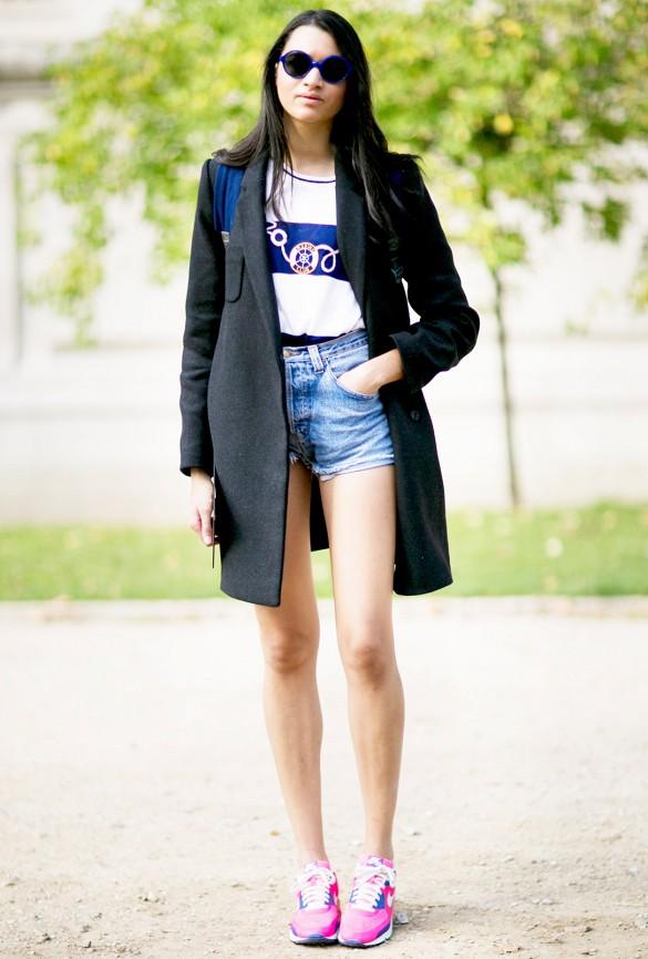Pour un mix intéressant vous pouvez compensez une longue veste (ou kimono) sur un short court. Au niveau du style ça en jette, et personne ne verra rien des rondeurs de vos cuisses. Vous aurez l\'air plus grande et plus maigre. Le rêve !