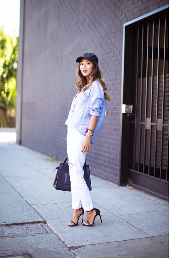 Sur la photo Aime Song du blog Song of Style