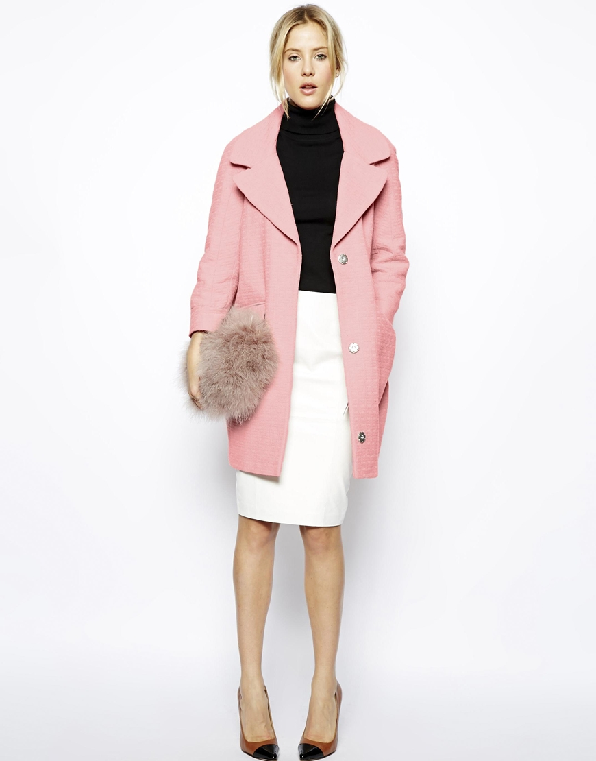 ASOS - Manteau rose (119 €)