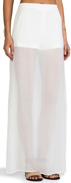BCBG - Jupe voilée blanche (166€)
