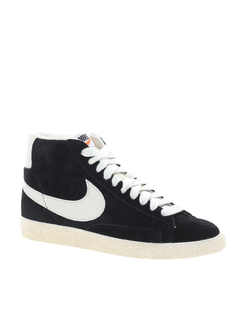 Nike - Baskets mi-hautes Blazer en daim noir (73,80 €)