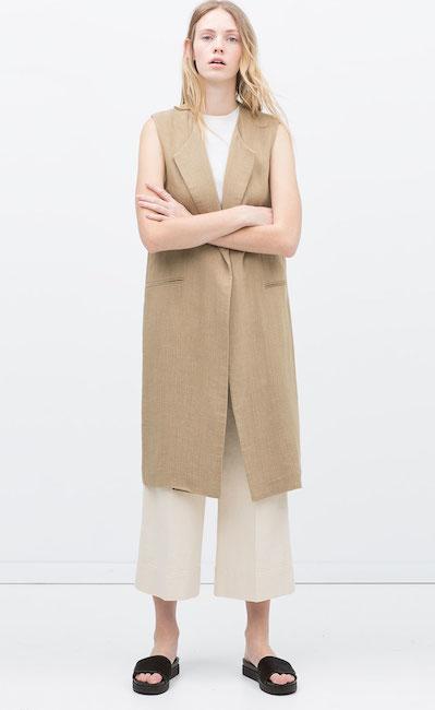 Zara - Veste longue (69,95 €)