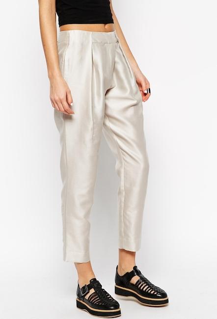 Asos White - Pantalon en coton et soie (100 €)