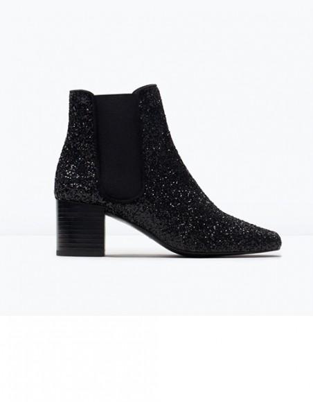 Zara - Bottines à paillettes (69,95 €)